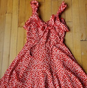 Flirty Floral Mini Dress Sz S